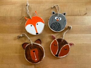 Woodland Creatures Ornaments - Kids & I Art Workshop
