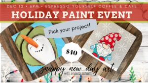 Paint Party with Snappy New Day Art