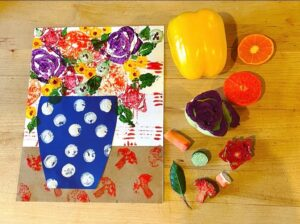 Kids and I Art Workshop: Painting Flowers with Food